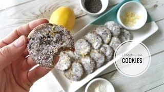 NO BAKE Lemon Chia Seed Cookies 🍪  Raw & Vegan