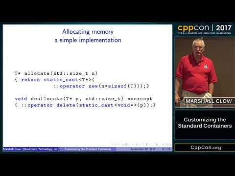 """CppCon 2017: Marshall Clow """"Customizing the Standard Containers"""""""