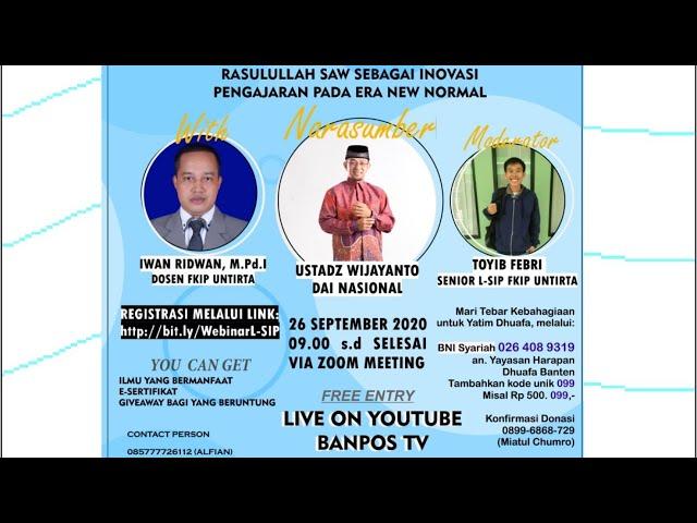 LIVE STREAMING Webinar Nasional Pendidikan 2020 | UKM-F LSIP FKIP Untirta