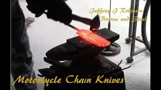 Motorcycle chain knives