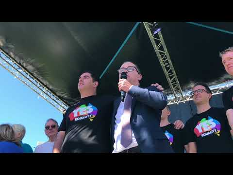 Alan Joyce Addresses Results Announcement Rally - Sydney