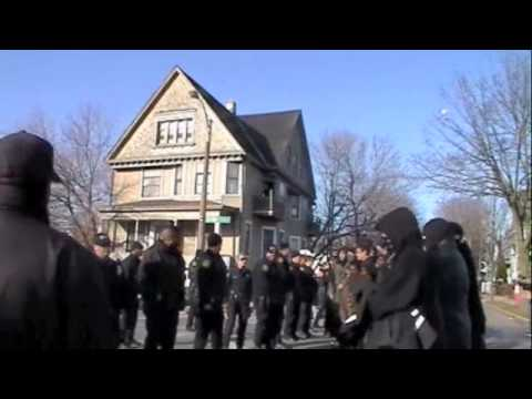 Tense Confrontation In Milwaukee Police Brutality Protest