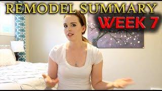 Remodel Summary Week 7 (electrical, plumbing, budget)