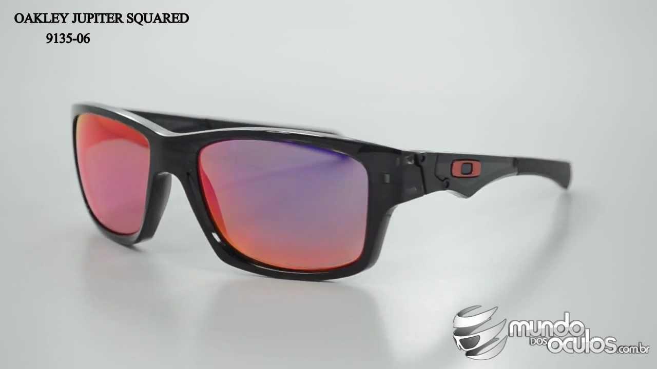 Oakley Jupiter Squared Polarizado - 9135-06 - YouTube 06d02c1adb