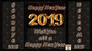 Happy New Year 2019 wishes animated ecard greetings whatsapp status in advance with