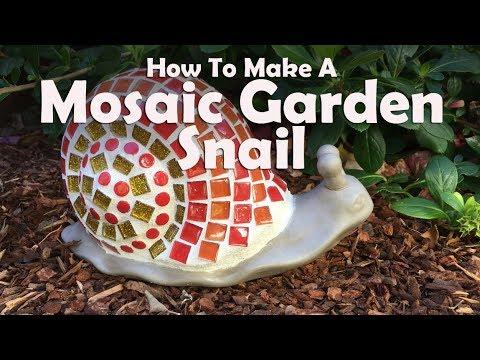 How To Make Mosaic Garden Snail
