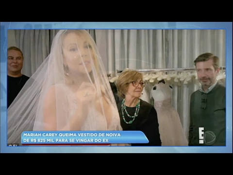 Hora da Venenosa: depois de levar fora do namorado, Mariah Carey queima vestido de noiva