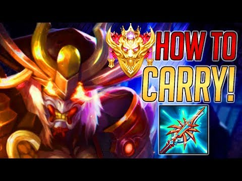 PERFECT CONQUEROR RYOMA GAME! [INSANE CARRY] | Arena of Valor English Ryoma Guide