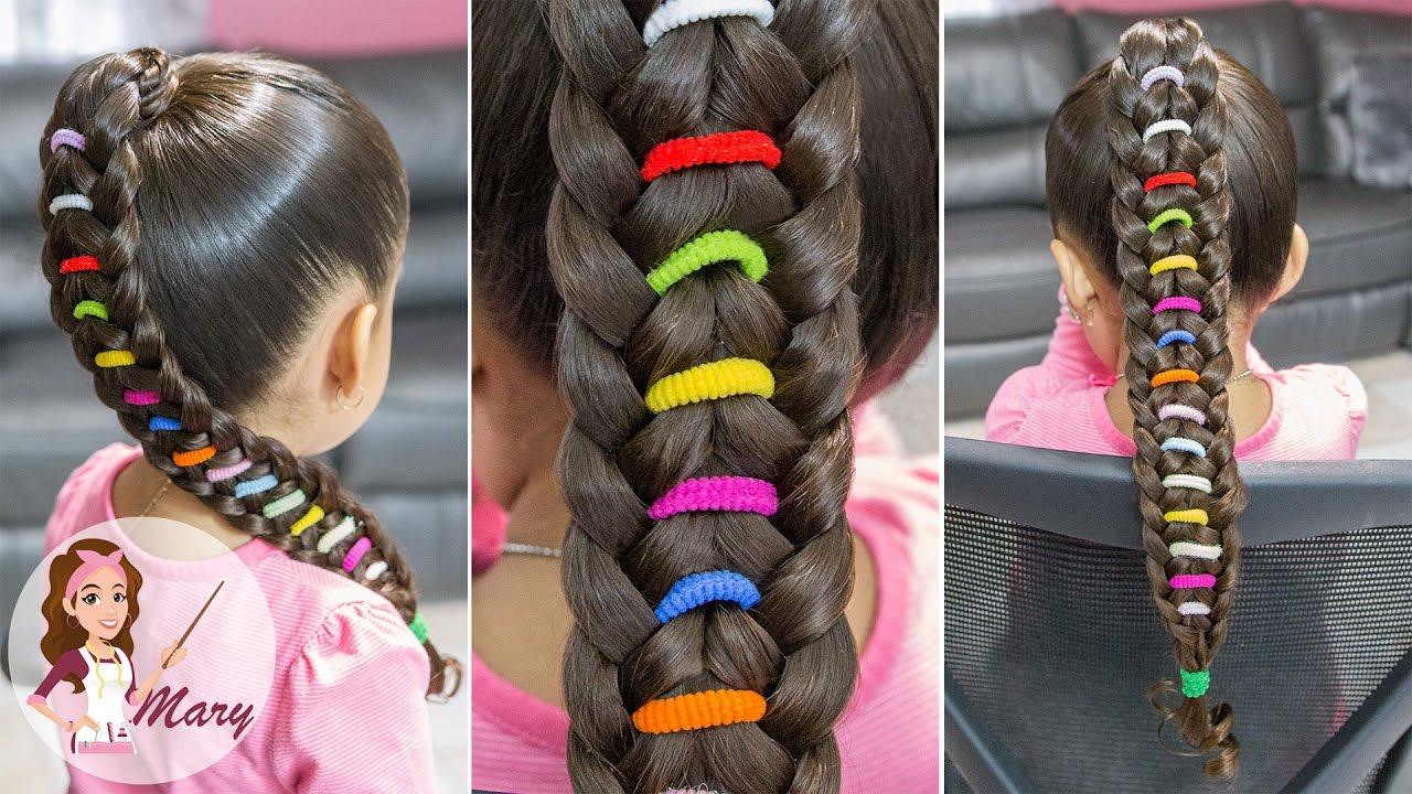Trenza arco ris peinado facil para escuela peinado - Peinados de ninas ...