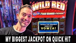 💸 My BIGGEST JACKPOT on Quick Hit! 🔴 CASH Machine and GREEN Machine PAY $$$