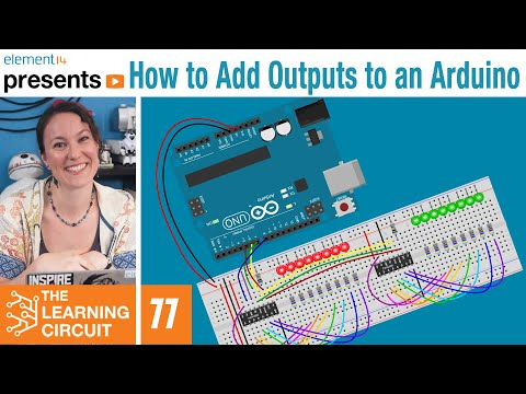 How to Add Outputs to an #Arduino using a Shift Register - The Learning Circuit