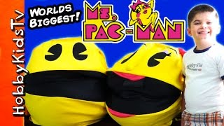 Two Giant MS PAC-MAN Surprise Eggs