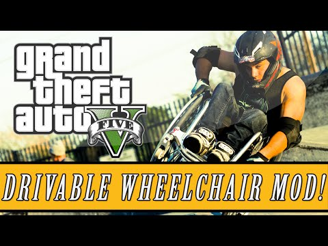 GTA 5: Mod Scase | New Drivle Wheelchair Mod - Zombie Driving ...