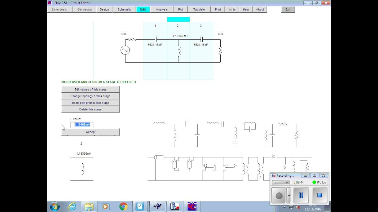 11th Feb Part 6 Filter Design And Analysis Using Elsie Software Youtube