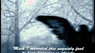 The Raven - narrated by James Earl Jones, Music Moonlight Sonata subtitles
