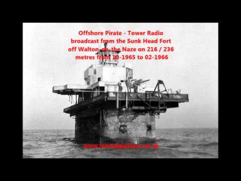 Offshore Pirate - Tower Radio Broadcasting From Sunk Head Fort