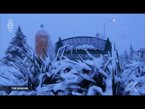 Ohakune cut off amid heaviest snow storm this century