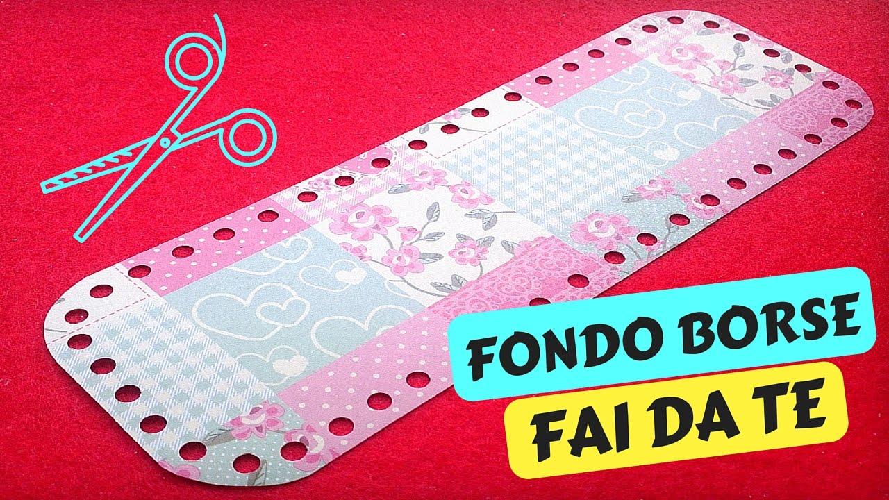 ... FONDO per BORSE A UNCINETTO FAI DA TE  Katy Handmade - YouTube