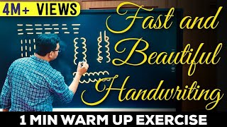 How to Improve Handwriting With A Simple Exercise! Write Much Faster & Get A Beautiful Handwriting