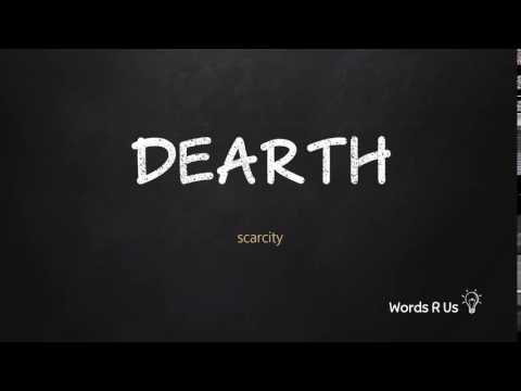 How To Pronounce DEARTH In American English