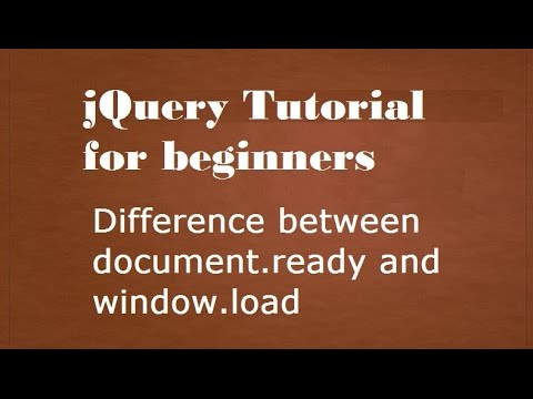 Difference between $(window).load and $(document).ready in Hindi.
