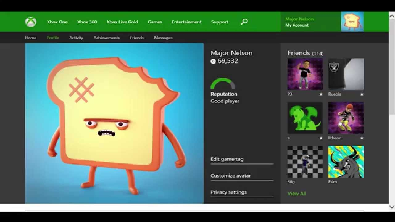 Xbox One Profile Coming To Xbox Com Youtube