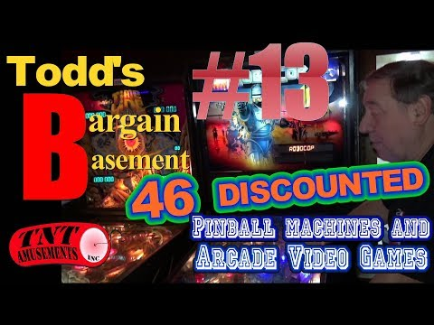 #1280 BARGAIN BASEMENT #13!  46 DISCOUNTED Arcade Video Games & Pinball Machines! TNT Amusements