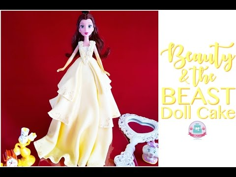 BEAUTY THE BEAST BARBIE DOLL CAKE
