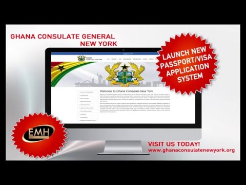 Ghana Consulate General New York Online Visa and Passport Application System