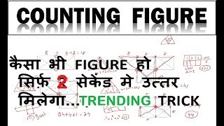 Reasoning : Counting of Figures tricks in Hindi & English