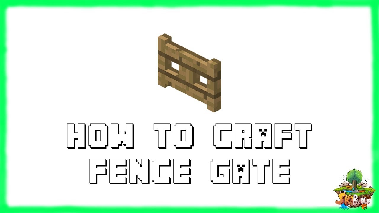 minecraft fence recipe. Minecraft 1.12.2: How To Make FENCE GATES! Recipe Tutorial For 1.12.2 | 2018 - YouTube Fence A