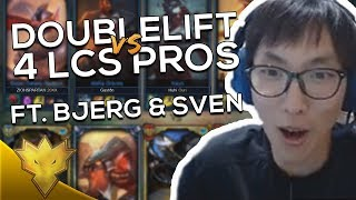 Doublelift & Bjergsen vs. LCS Pros in SOLOQ! ft. Svenskeren - League of Legends Funny Stream Moments