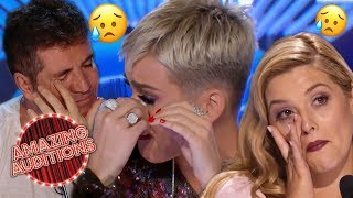 Download Top 3 EMOTIONAL Singing Auditions That Made Judges Cry | Amazing Auditions Mp3 and Videos