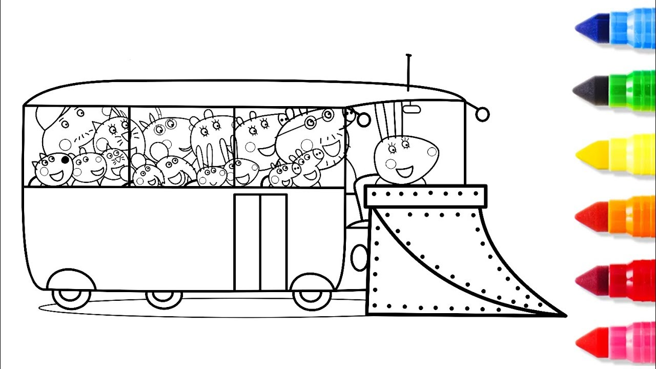 Big Bus Coloring Pages   Big Drawing Pages For Kids   Learn to ...