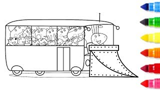 Big Bus Coloring Pages | Big Drawing Pages For Kids | Learn to Colouring