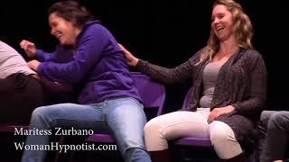 Hilarious Hypnotist Hypnotized Laughing