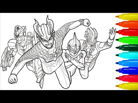 Ultraman Zero Ultra Sever Heroes Coloring Pages | Colouring Pages For Kids With Colored Markers