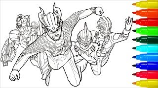 Ultraman Zero Ultra Sever Heroes Coloring Pages   Colouring Pages for Kids with Colored Markers