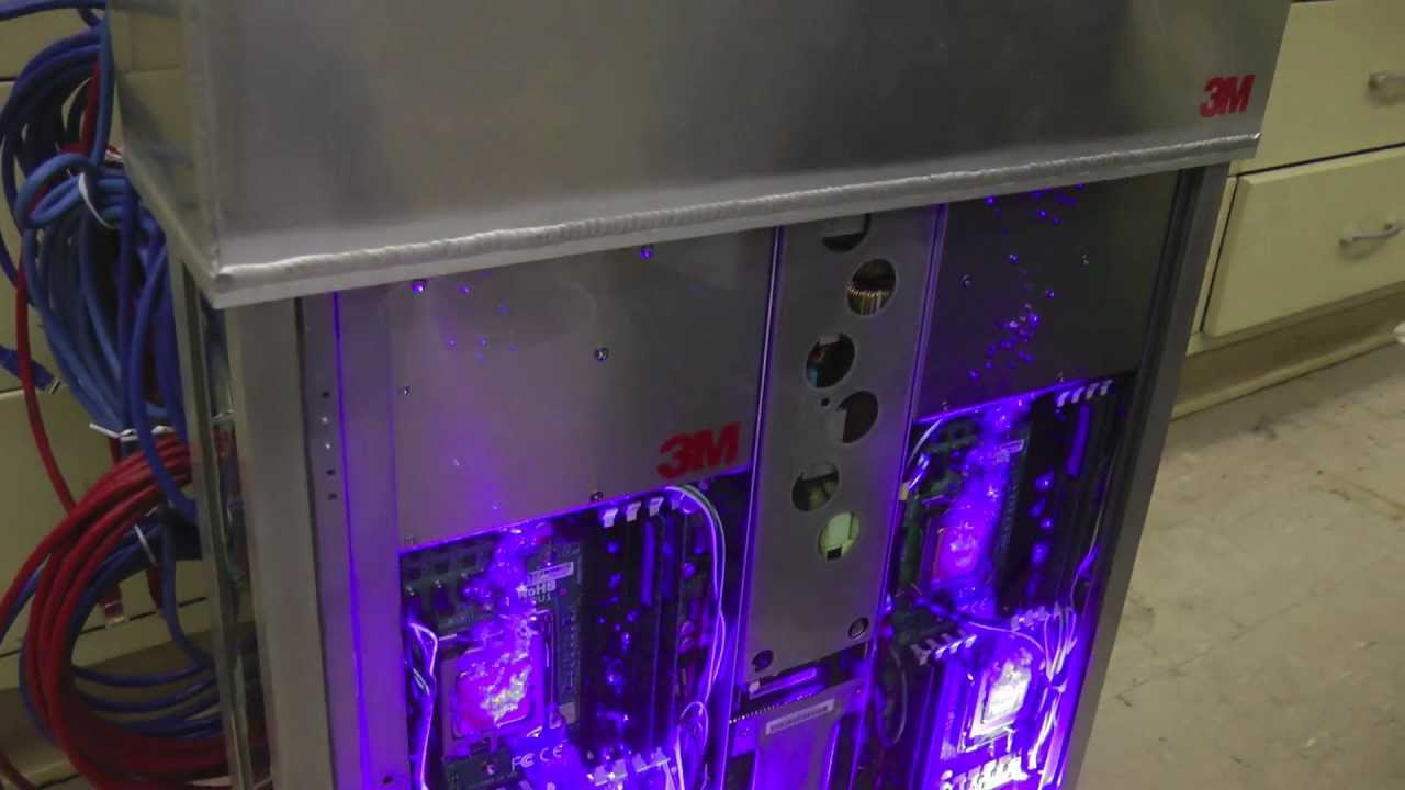 immersion cooled server cluster intro youtube