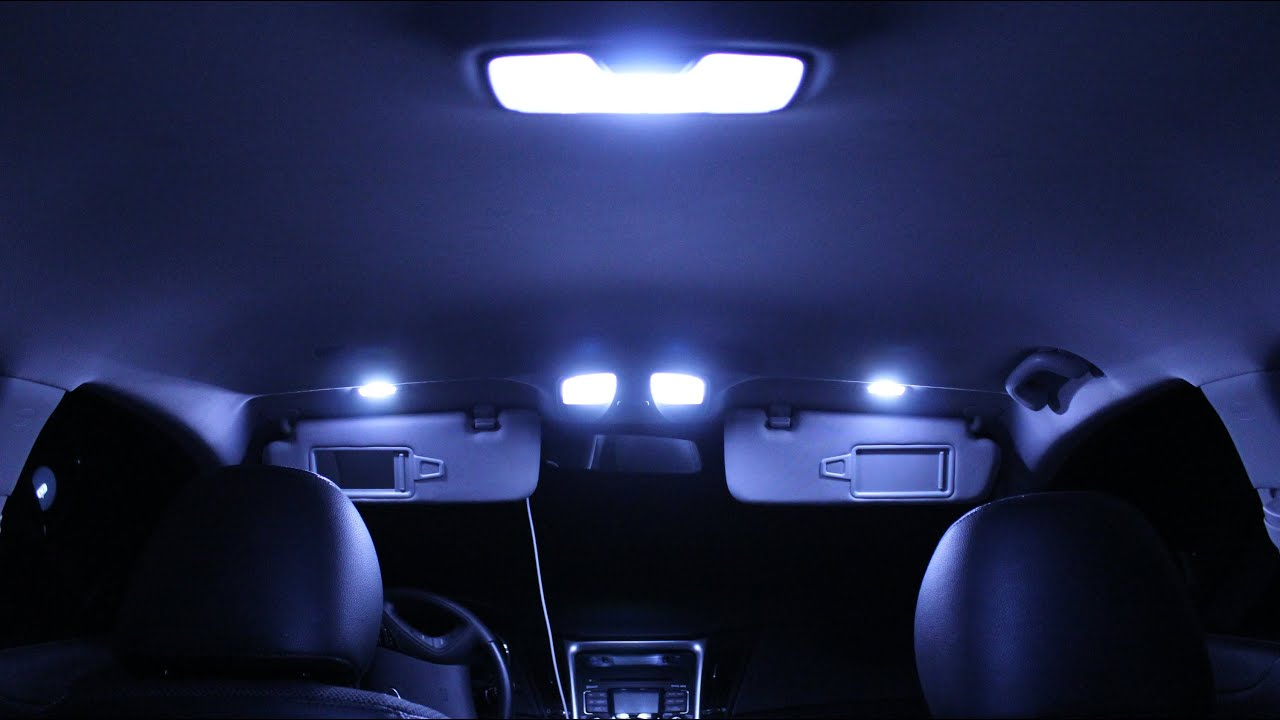 Hyundai Sonata Interior Lights Changing Originals With LED Lights Part #1    YouTube