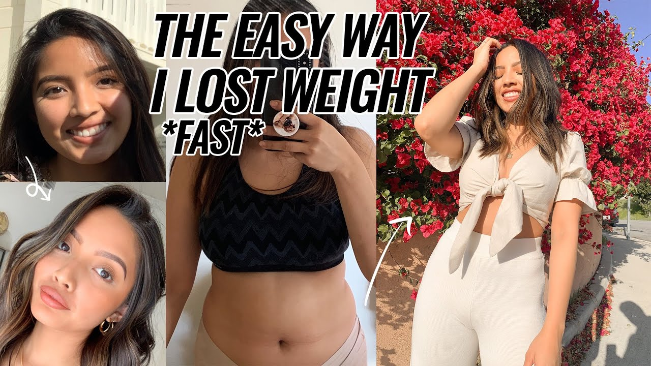 HOW I LOST WEIGHT *EASY LIFE-CHANGING TIPS* | GLOW UP IN QUARANTINE