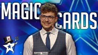 Card Magician Cuts The Deck on Lithuania's Got Talent 2019 | Magicians Got Talent