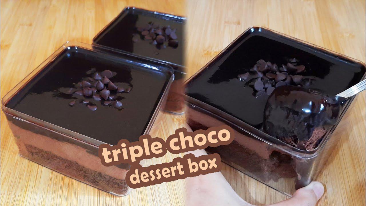 RESEP TRIPLE CHOCO DESSERT BOX BY TRI PUJIS