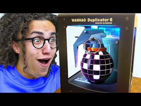 3D PRINTING LEGENDARY FORTNITE ITEMS IN REAL LIFE!