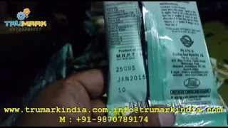 Online Hot Ink Coding On Pouch Packing Machine, Date Printing On Roll Form Pouch