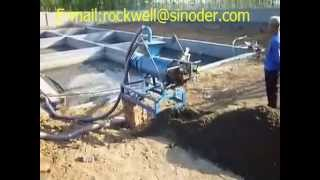 chicken manure or cow dung dewatering machine animal waste manure solid separator