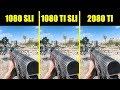 Battlefield 5 RTX 2080 TI Vs GTX 1080 TI SLI Vs GTX 1080 SLI Frame Rate Comparison