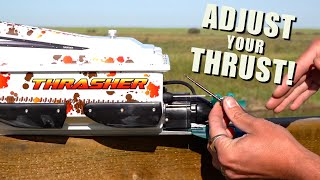 THRASHER JET BOAT - NEW THRUST VECTORING OPTION! | RC ADVENTURES