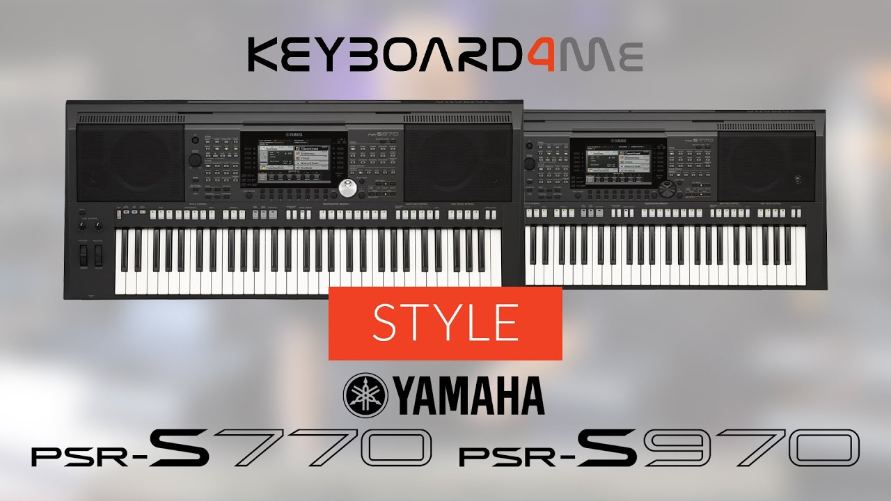 yamaha psr s770 psr s970 style akompaniament w. Black Bedroom Furniture Sets. Home Design Ideas