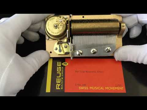 "Reuge 2 song 50 note musical movement for music box, plays "" My Cup Runneth Over"" in 2 parts"